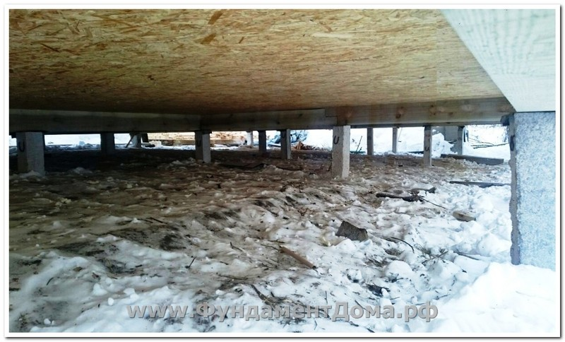 Декабрь 2016, д.Колюткино, 36 свай под дом из двойного минибруса
